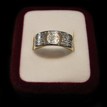 © Goldmine Jewellery - 8mm Silver Polynesian Design Ring