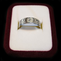 © Goldmine Jewellery - 6mm Silver Polynesian Design Ring